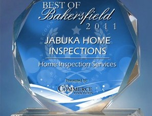 JABUKA HOME INSPECTIONS Receives 2011 Best of Bakersfield Award